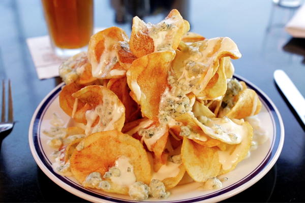 Bleu cheese chips from Buckhead Diner
