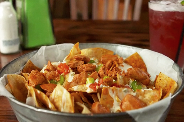 Buffalo Nacho Chips from Tin Lizzy's