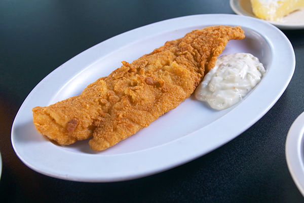 the fried catfish from Magnolia Room