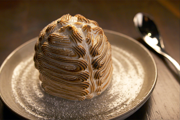 baked alaska at Arnette's chop Shop