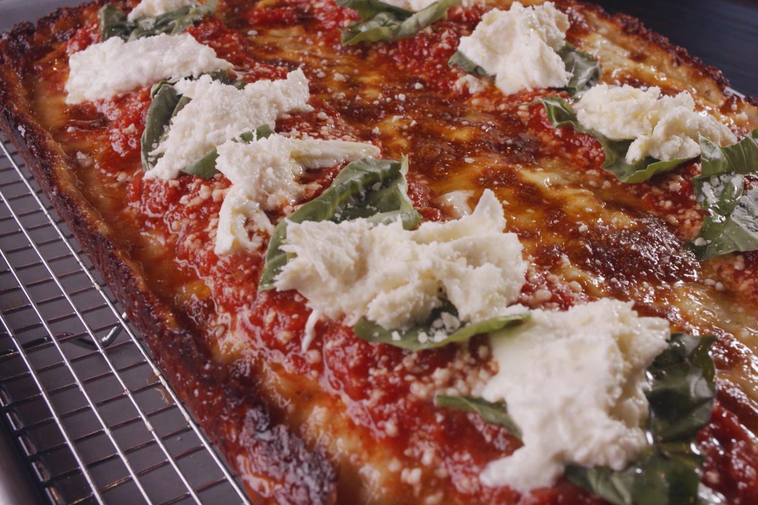Detroit Style Pizza from Nina + Rafi