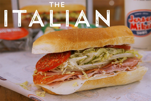 the italian sub at Jersey Mike's