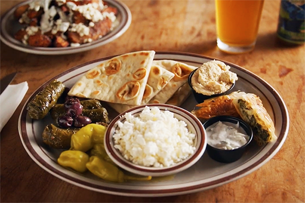 the Greek sampler platter at Kafenio