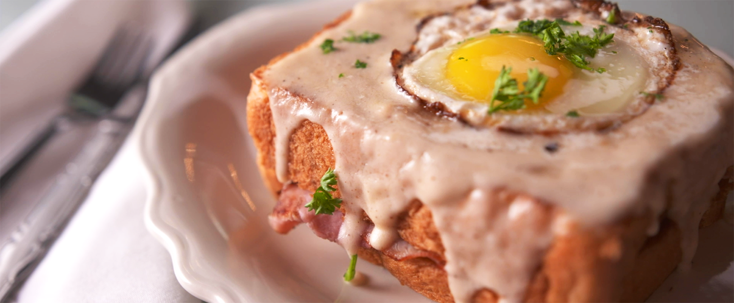 The croque madame from Cafe Intermezzo.