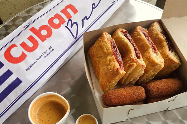 Cuban bread and pastries from Buena Gente bakery.