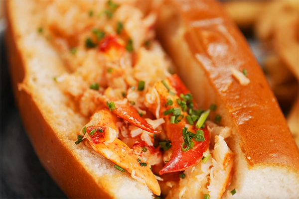 Lobster Roll from Ocean and Acre in alpharetta.